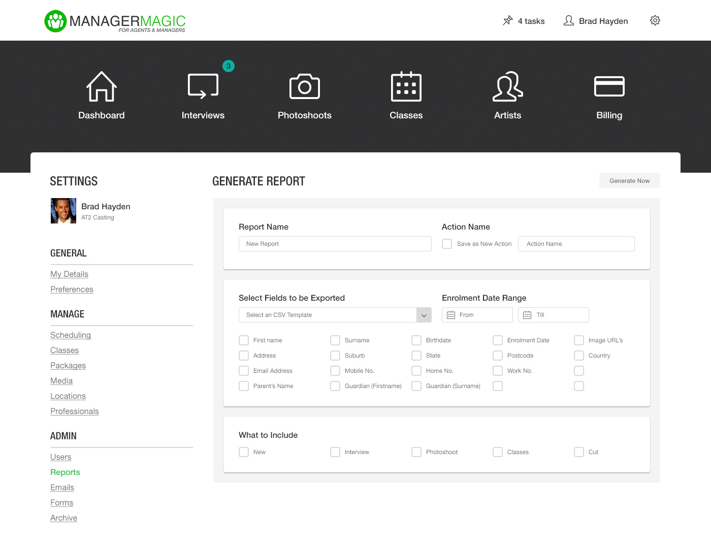 Reports – Any data you need